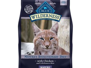 Blue Buffalo Wilderness Grain Free with Chicken Mature Premium Dry Cat Food   5lbs