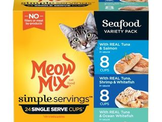 Meow Mix Simple Servings   Wet Cat Food Variety Pack   24ct