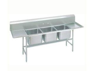 Advance Tabco 9 83 60 18Rl 103  3 Compartment Sink w  20 l x 28 W Bowl  12  Deep