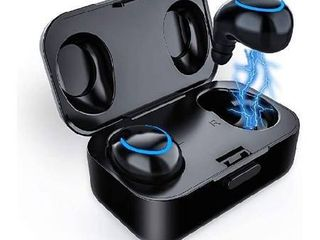 aUpgraded 2020 VersionaTruly Wireless Earbuds Bluetooth V5 0 IPX5 Waterproof Sweatproof Noise Cancelling Headphone True Wireless Earphones with Mic for iPhone Samsung Boys Gym Running