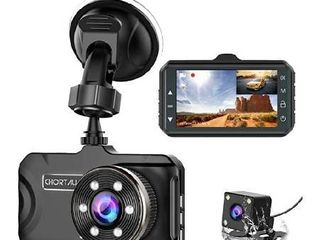 Dash Cam Front and Rear CHORTAU Dual Dash Cam 3 inch Dashboard Camera Full HD 170A Wide Angle Backup Camera with Night Vision WDR G Sensor Parking Monitor loop Recording Motion Detection