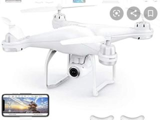 Potensic T25 GPS Drone  FPV RC Drone with Camera 1080P HD WiFi live Video  Dual GPS Return Home  Quadcopter with Adjustable Wide Angle Camera  Follow Me  Altitude Hold  long Control Range  White