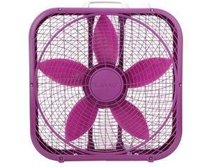 lasko Cool Colors 20in 3 Speed Box Fan  Purple