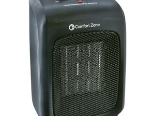 Comfort Zone Ceramic Heater  Black