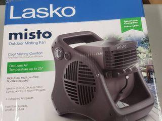 lasko Misto Outdoor Misting 3 Speed Fan  Black