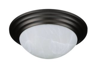 Mainstays 12in Flush Mount Ceiling Fixture  Oil Rubbed Bronze Finish