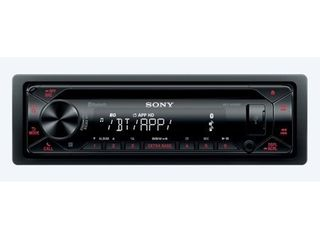 Sony   In Dash CD DM Receiver   Built in Bluetooth with Detachable Faceplate   Black