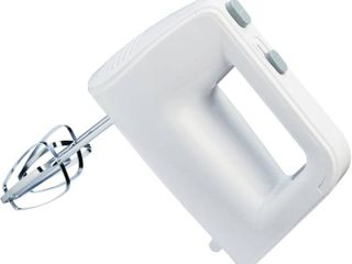 Mainstays 5 Speed 150 Watts Hand Mixer with Chrome Beaters  White