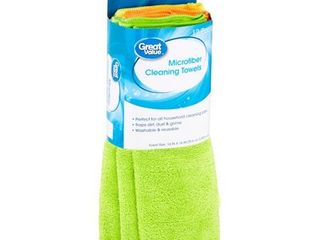 Great Value Microfiber Cleaning Towels 2 pack