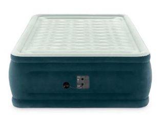 Intex 24in Queen Dura beam Dream lux Pillow Top Airbed Mattress with Internal Pump