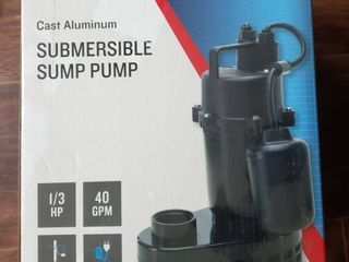 Utilitech 0 33 hp Aluminum Submersible Sump Pump