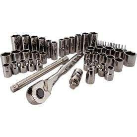 CRAFTSMAN 51 Piece Standard  SAE  Gunmetal Chrome Mechanic s Tool Set