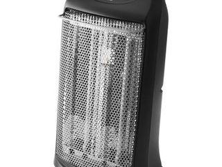 Mainstays Quartz Electric Tower Space Heater  Indoor  Black