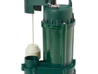 Zoeller 1 3 Hp 115v 60 Gpm Cast Iron Submersible Sump Pump Water lift 1075
