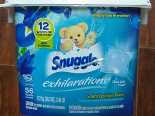 Snuggle Scent Boosters Blue Iris Bliss laundry Scent Pacs 56 Count