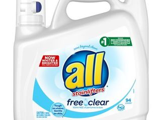 All Ultra Free Clear HE liquid laundry Detergent   141oz