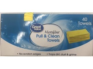 Great Value Microfiber Pull   Clean Towels  40 count