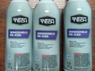 3 pack of Super Tech Windshield Deicer