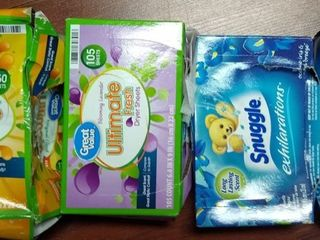 Dryer Sheet Bundle Pack  assorted fragrances