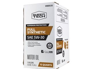 Super Tech Full Synthetic SAE 5W 30 Motor Oil  12 Quarts