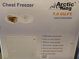 Arctic King 7 cu ft Chest Freezer  White ARC070S0ARWW