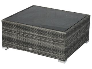 Outsunny Wicker Grey Patio Table