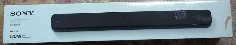 Sony 2 0 Channel 120W Soundbar with Bluetooth and Surround   HT S100F