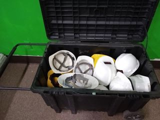 Husky Tool Tub on Wheels   Hard Hats