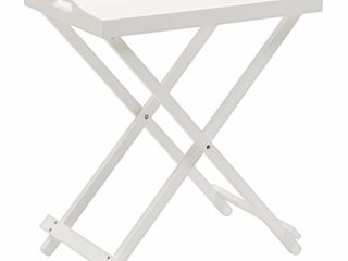 Folding Tray Table White   Johar Furniture