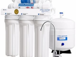 APEC Water   US Made   Premium Quality 90 GPD High Flow Reverse Osmosis Drinking Water Filter System  RO 90