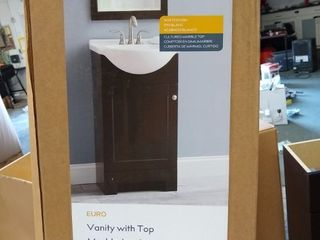 Style Selections Euro 19  Espresso Single Sink Bathroom Vanity With Top   Read
