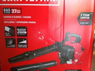 Craftsman 27 cc 2 cycle 205 mph 450 cfm Heavy duty Handheld Gas leaf Blower