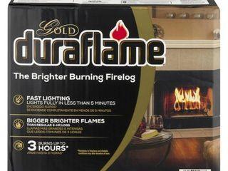 duraflameAr Firelogs  Brighter Burning  Gold  Box  4 5 lB