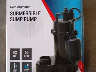 Utilitech Cast Aluminum Submersible Sump Pump 1 2 Hp 115v 55 Gpm 0955624