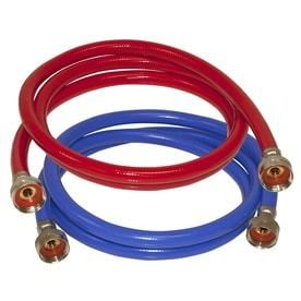 EASTMAN 2 Pack 6 ft 800 PSI PVC Washing Machine Connectors