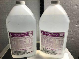 lOT OF 2 RENAlPURE lIQUID ACID CONCENTRATE C 117