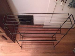 4 Tiered Metal Shoe Rack In Excellent Condition 33x12