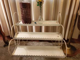 Metal 3 Tier Plant Stand With Contents Included