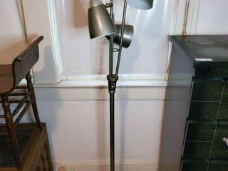 MCM Chrome Colored 3 Bulb Floor lamp