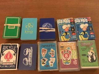10 Decks of Playing Cards Card Games location Mantel