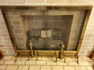 Fire Place Metal Cover Woth Chain link Curtain