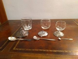 lot Of 3 Cool Different Sized Salt Dips
