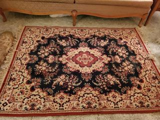 Red and Black Victorian Style Area Rug