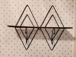 MCM Diamond Shape Wall Shelf