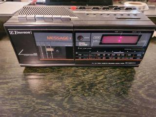 Emerson Radio Cassete Recorder and Digital Clock