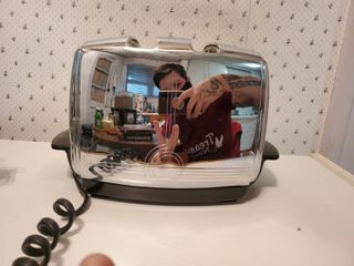 Vintage Sunbeam Toaster with Original Cover