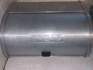 Vintage Kromex Bread Box location Kitchen Counter
