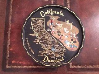 California Tray With 6 Piece California Coasters