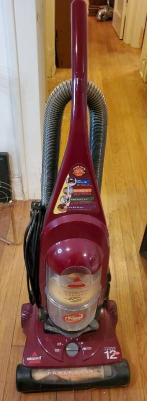 Bissell Burgandy Vaccum  Tested and Working