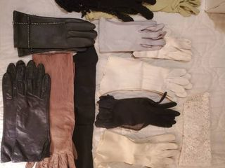 14 Pairs of Womens Evening and leather Gloves